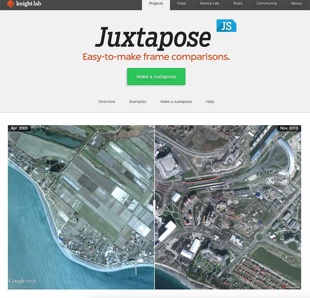 Juxtapose knighlab tool