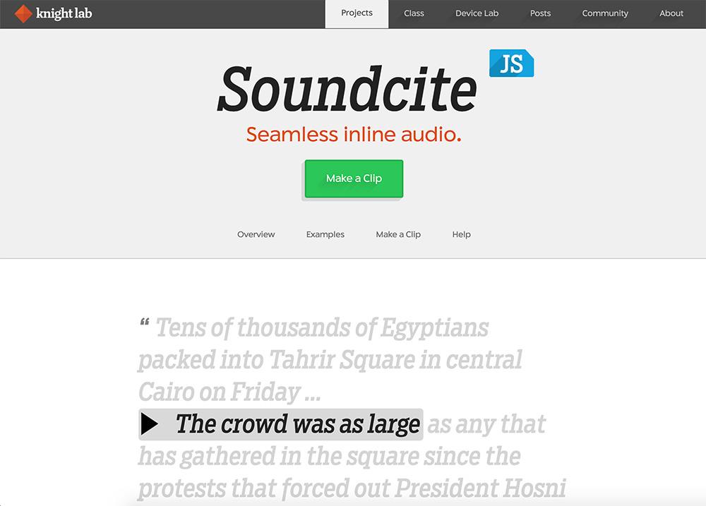 soundcite knighlab tool