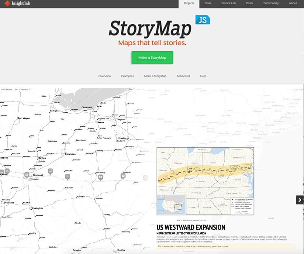 storymap knighlab tool