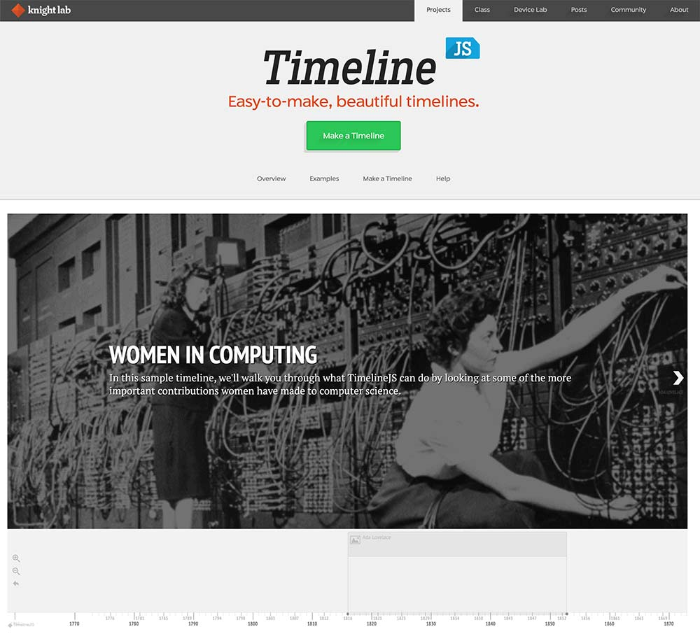 timeline knighlab tool